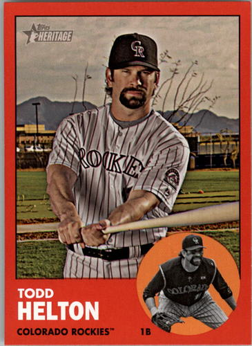 Photo of 2012 Topps Heritage #484B Todd Helton TAR SP