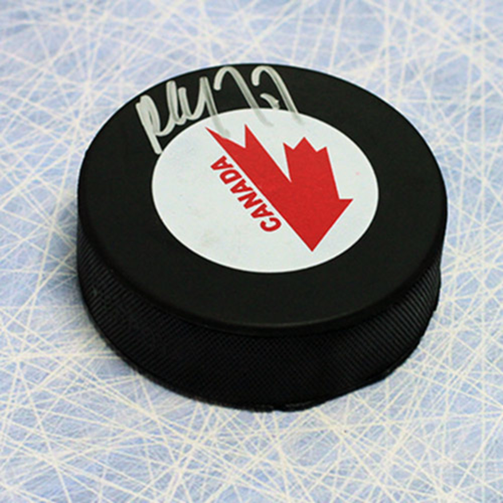 Paul Coffey Team Canada Autographed Canada Cup Hockey Puck