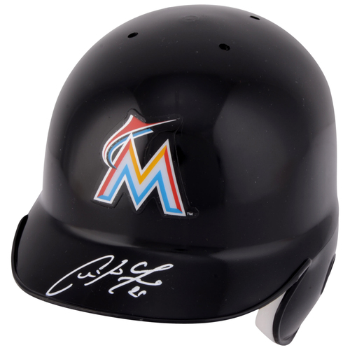 Photo of Christian Yelich Miami Marlins Autographed Miniature Batting Helmet