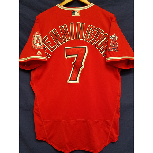 Photo of Cliff Pennington Alternate Red Game-Used Jersey