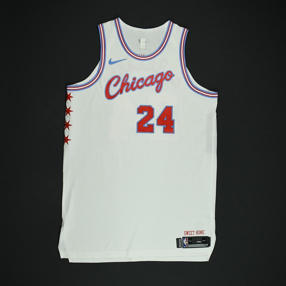 release date 54e09 cbfd5 Lauri Markkanen - Chicago Bulls - Game-Worn 'City' Jersey ...