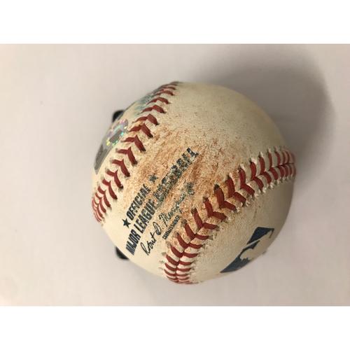 Photo of Cody Bellinger Game Used Hit Single Baseball - 7/27/2018