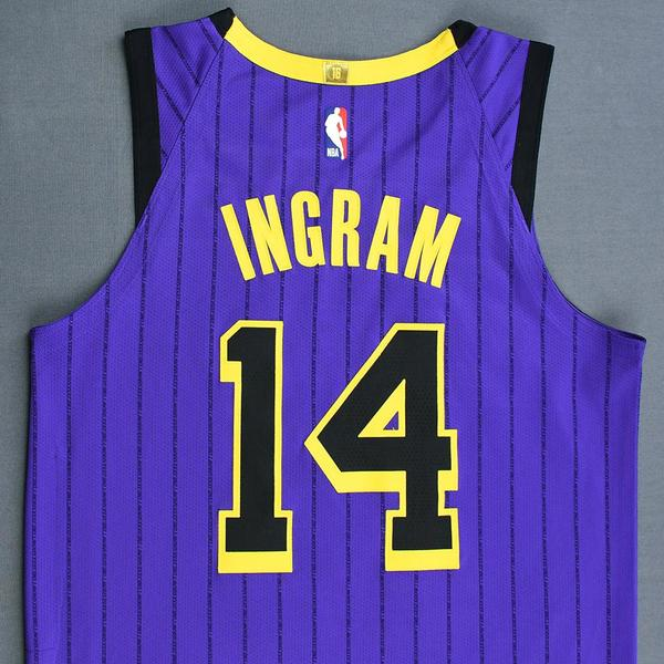 47a553a8f0f Brandon Ingram - Los Angeles Lakers - Christmas Day  18 - Game-Worn ...