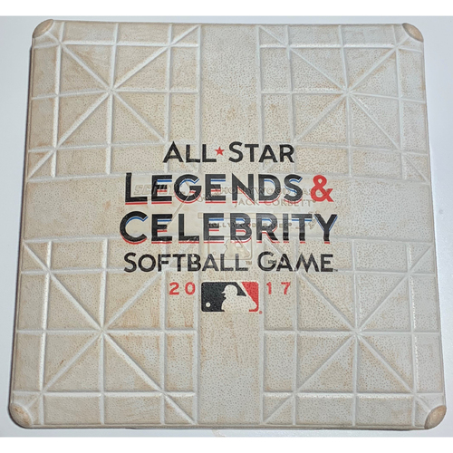 Photo of 2017 All-Star Legends & Celebrity Softball Game Used 1st Base - Entire Game - July 9th
