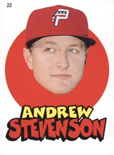 Photo of 2016 Topps Heritage Minors '67 Topps Stickers #22 Andrew Stevenson
