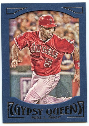 Photo of 2016 Topps Gypsy Queen Framed Blue #5 Albert Pujols