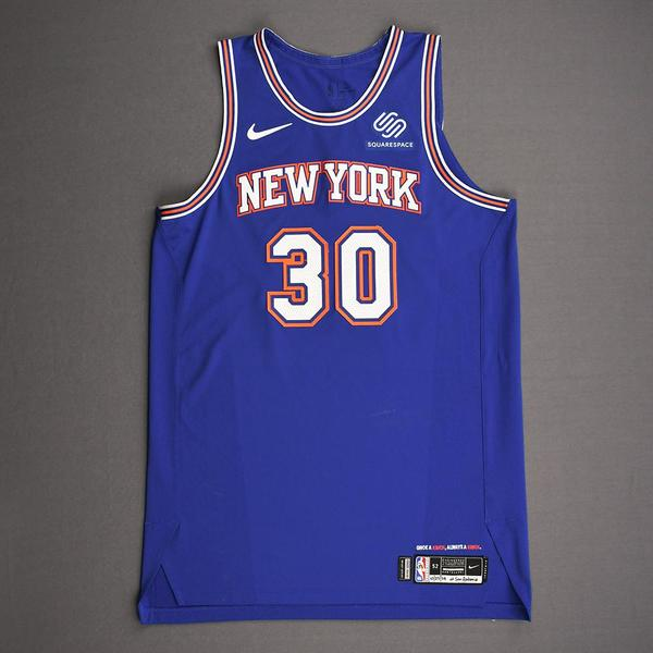 Image of Julius Randle - New York Knicks - Kia NBA Tip-Off 2019 - Game-Worn Statement Edition Jersey - Knicks' Debut - Double-Double - 25 Points Scored