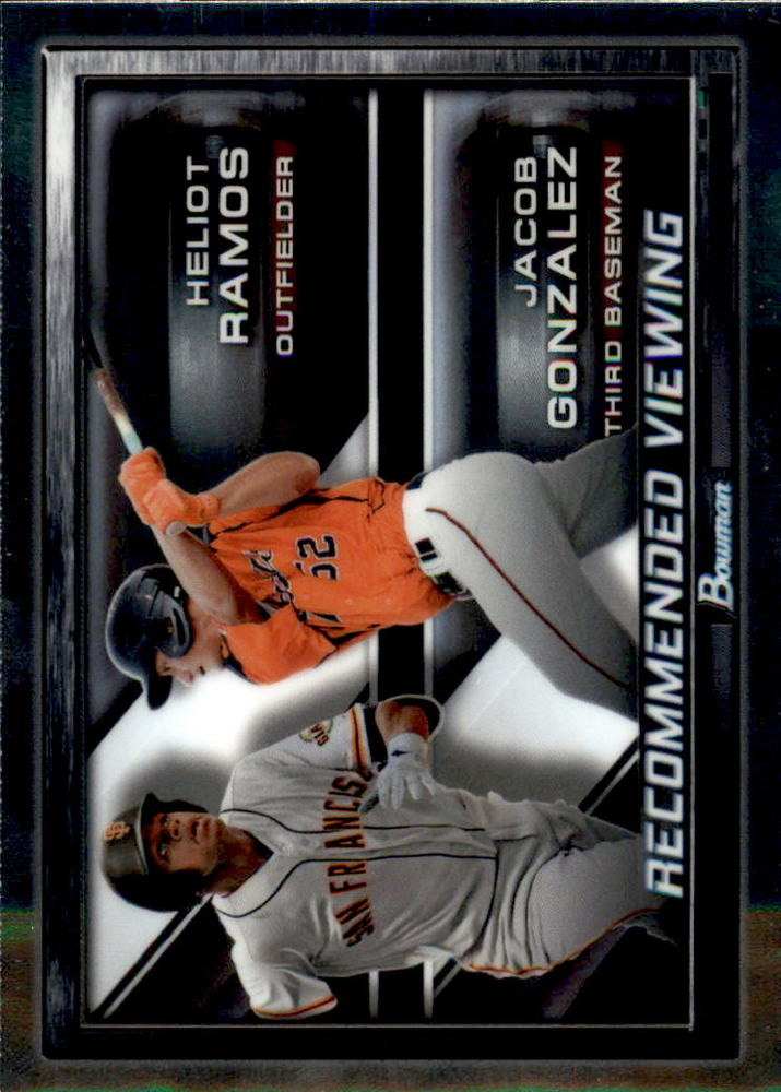 2017 Bowman Chrome Draft Recommended Viewing #RVSFG Heliot Ramos/Jacob Gonzalez