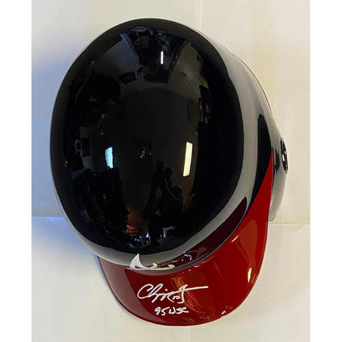 "Photo of Chipper Jones ""95 WSC"" Autographed Replica Braves Batting Helmet"