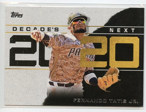 Photo of 2020 Topps Decade's Next #DN3 Fernando Tatis Jr.
