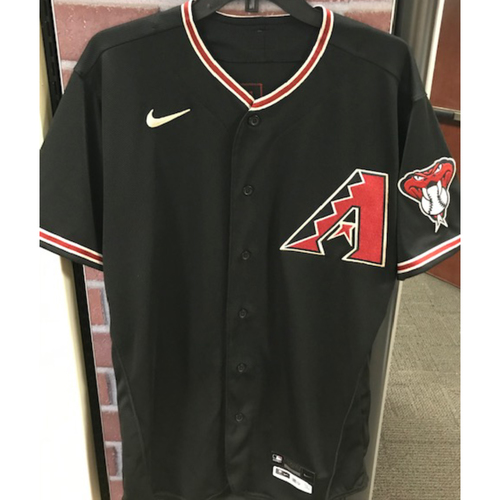 Photo of Starling Marte 2020 Team-Issued Black Alternate Jersey (Size 44T)