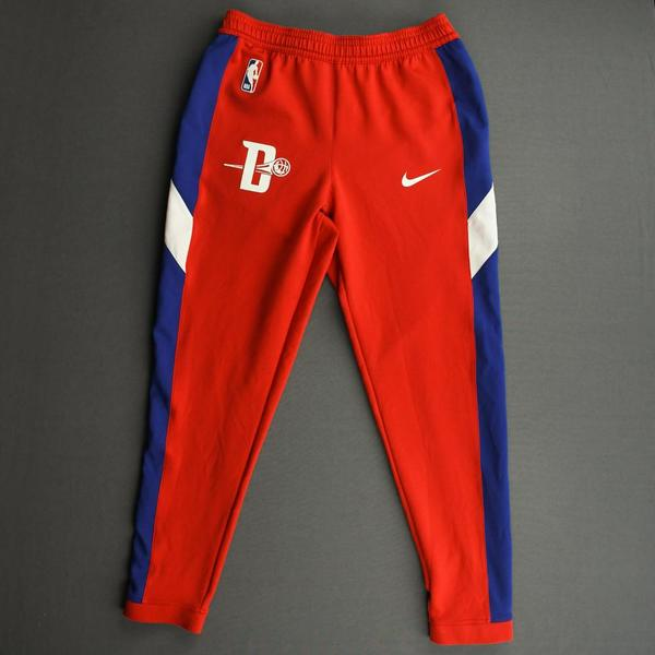 Image of Khyri Thomas - Detroit Pistons - Game-Issued Earned Edition Game Theater Pants  - 2019-20 NBA Season