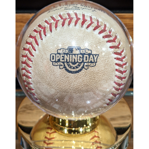 2015 Opening Day Red Sox vs. Nationals Game Used Baseball