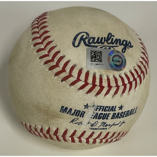 Photo of Game-Used Baseball - Josh Naylor Double off Matt Foster - 9/21/2020 - White Sox at Indians