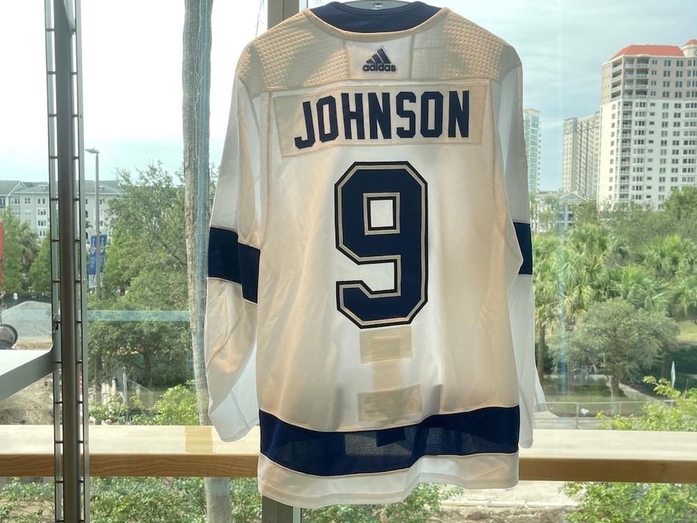 #9 Tyler Johnson Tampa Bay Lightning 2021 Stanley Cup Final Game-Worn Jersey