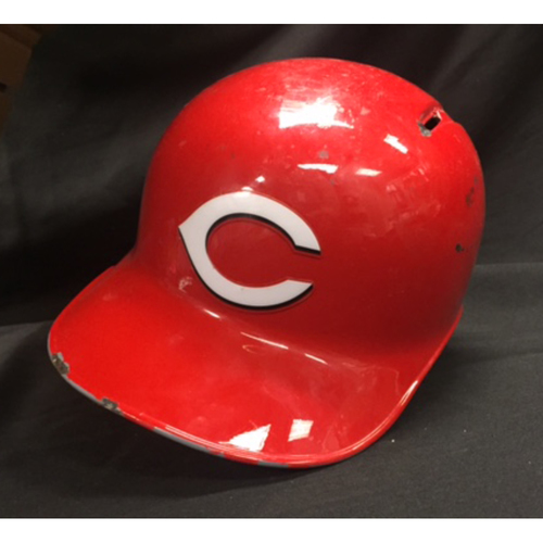 Billy Hamilton -- Game-Used Helmet -- Worn for 58th Stolen Base of 2016 -- Established a New Career High at the Time