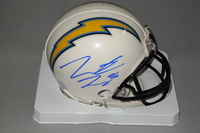 CHARGERS - HUNTER HENRY SIGNED CHARGERS MINI HELMET