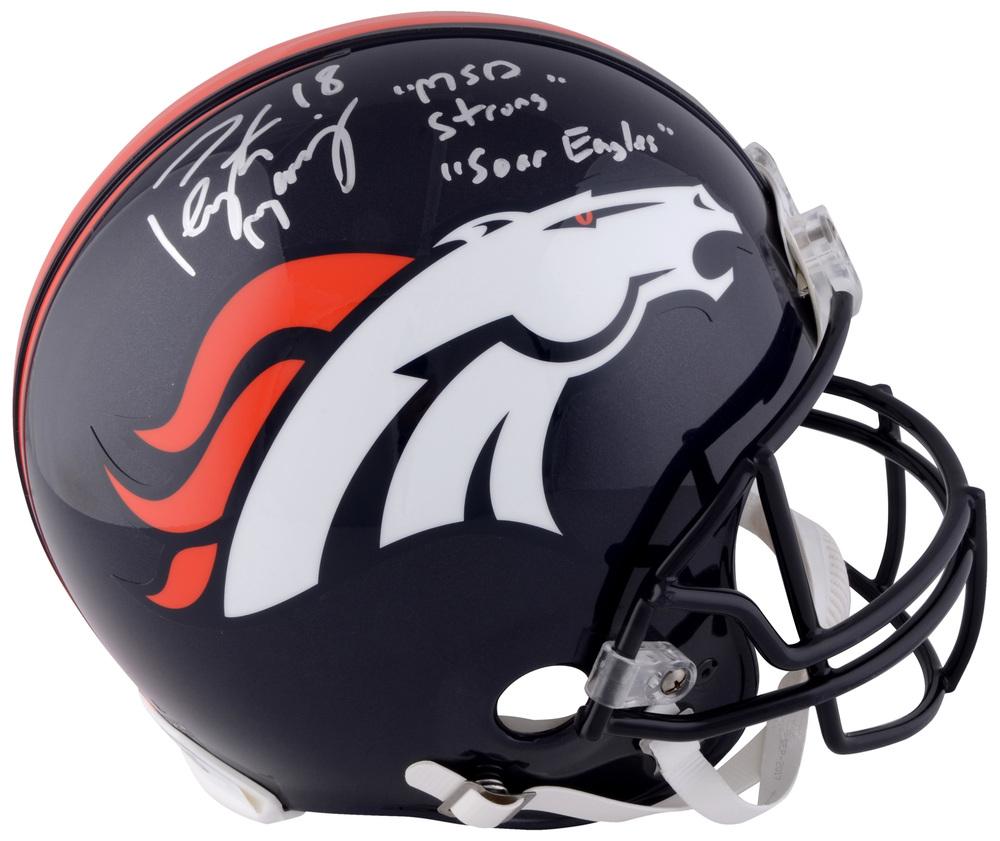 Peyton Manning Denver Broncos Autographed Full Size Helmet with MSD Strong  and Soar Eagles Inscription c409c21e7