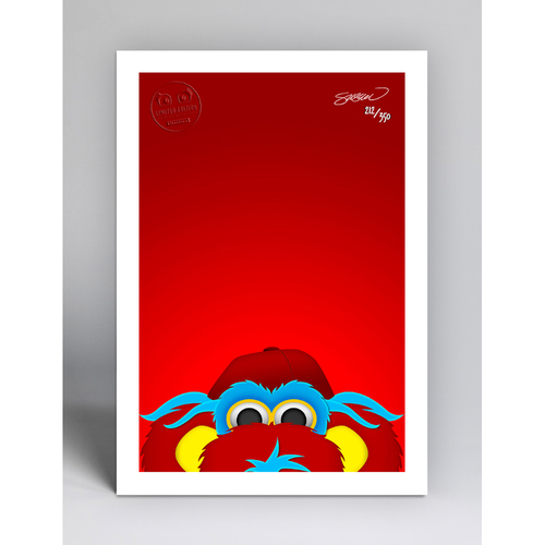 Photo of Gapper - Limited Edition Minimalist Mascot Art Print by S. Preston  - Cincinnati Reds