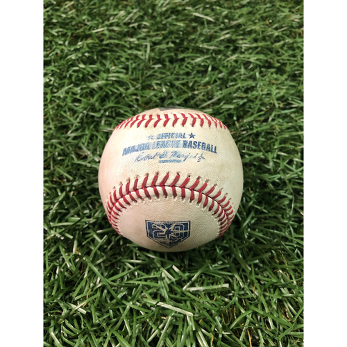 20th Anniversary Game Used Baseball: Trey Mancini single, Chris Davis strike out and Renato Nunez line out off Jaleen Beeks - August 8, 2018 v BAL
