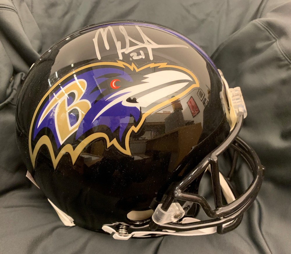 PCC - Mark Ingram signed Ravens Proline Helmet - #21 inscription - All money raised will be donated to the Mark Ingram Foundation