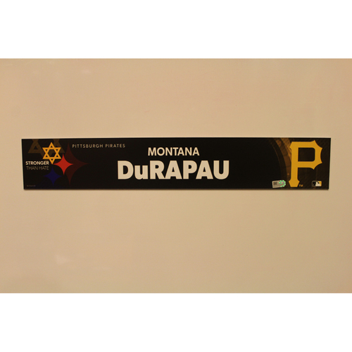 Photo of 2019 Game Used Locker Nameplate - Montana DuRapau
