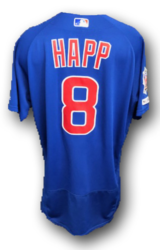 Photo of Ian Happ Game-Used Jersey -- Cubs at Cardinals -- 9/29/19 -- Size 44