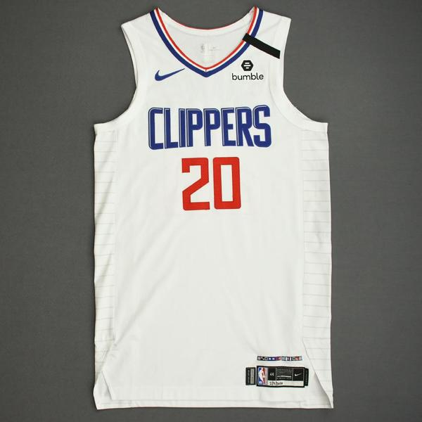 Image of Landry Shamet - Los Angeles Clippers - Game-Worn Association Edition Jersey - 2019-20 NBA Season