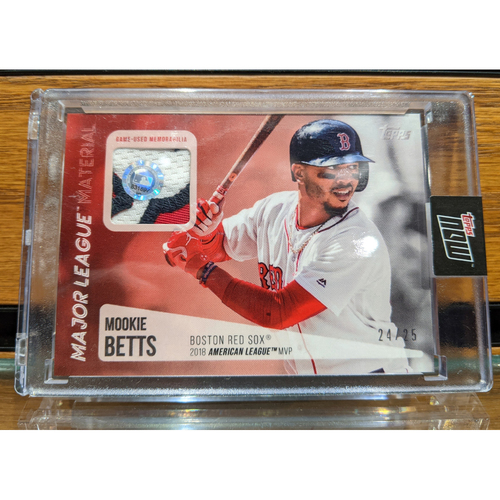 Topps Mookie Betts 2018 MVP Game Used Jersey Swatch Baseball Card 24/25
