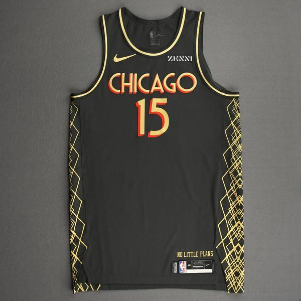 Image of Chandler Hutchison - Chicago Bulls - City Edition Jersey - 2020-21 NBA Season