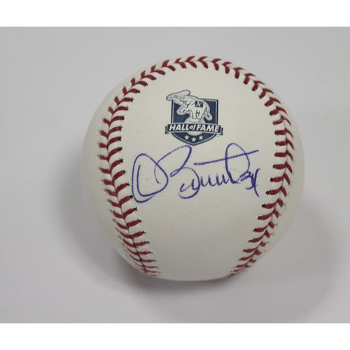 Photo of Dave Stewart Autographed A's Hall of Fame Baseball