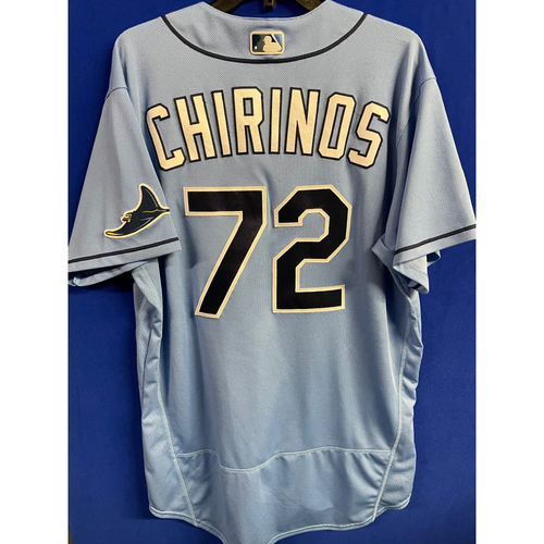 Photo of Game Used 2020 Spring Training Jersey: Yonny Chirinos - 1 Game - February 24 v BOS