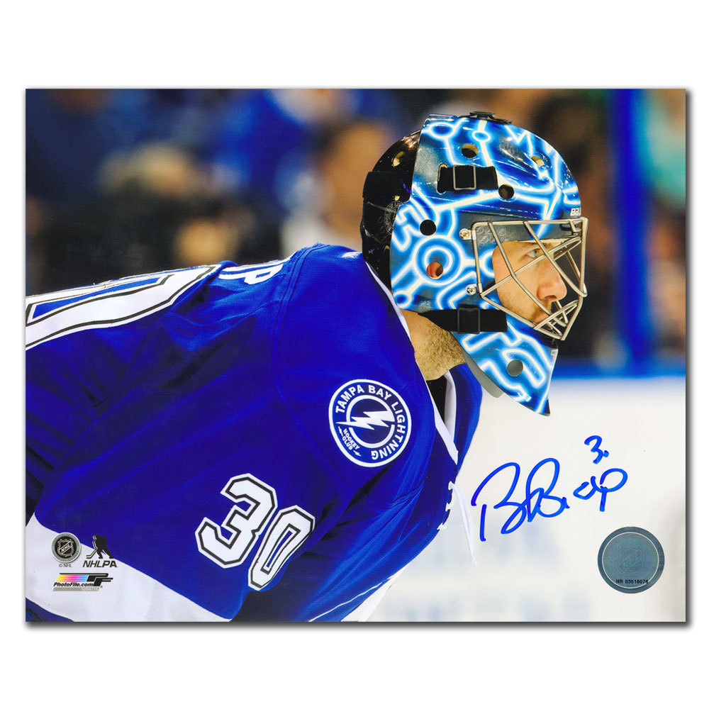 Ben Bishop Tampa Bay Lightning CLOSE UP Autographed 8x10