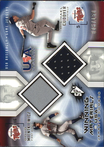 Photo of 2002 SPx Winning Materials USA Jersey Combos #USAMIN Doug Mientkiewicz/Michael Cuddyer