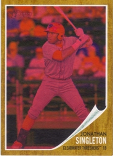 Photo of 2011 Topps Heritage Minors Red Tint #154 Jonathan Singleton