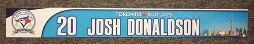 Authenticated Game Used 40th Anniversary Locker Nameplate - #20 Josh Donaldson