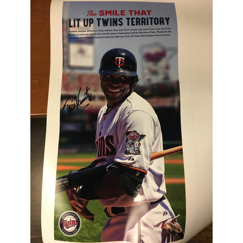 "Photo of ""The Smile That Lit Up Twins Territory"" Autographed Print"