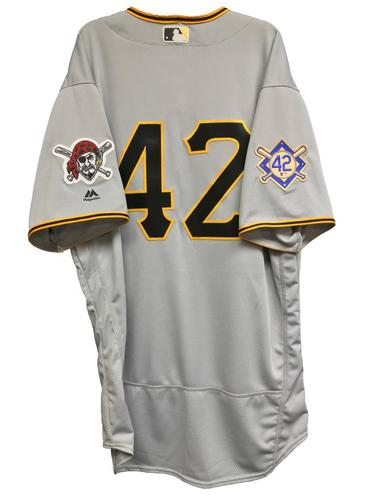 Photo of Tyler Glasnow Game-Used 2018 Jackie Robinson Day Jersey