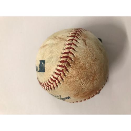 Photo of Chris Taylor Game Used Hit Single Baseball - 7/26/2018
