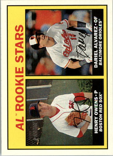 Photo of 2016 Topps Heritage #178 Dariel Alvarez RC/Henry Owens RC
