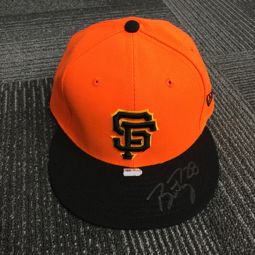 Photo of 2018 San Francisco Giants - Team Issued Autographed Players Weekend Cap - #28 Buster Posey - Size 7 3/8