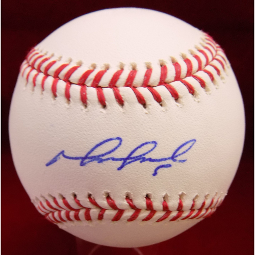 Photo of Mike Napoli Autographed Baseball