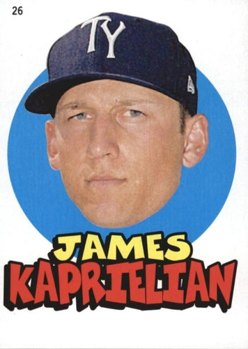 Photo of 2016 Topps Heritage Minors '67 Topps Stickers #26 James Kaprielian