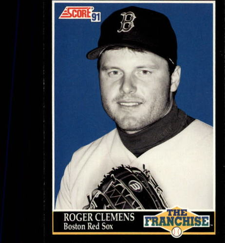 Photo of 1991 Score #850 Roger Clemens FRAN