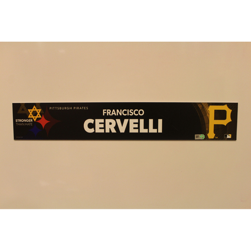Photo of 2019 Game Used Locker Nameplate - Francisco Cervelli