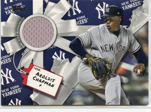 Photo of 2019 Topps Walmart Holiday Relics #WHRAC Aroldis Chapman
