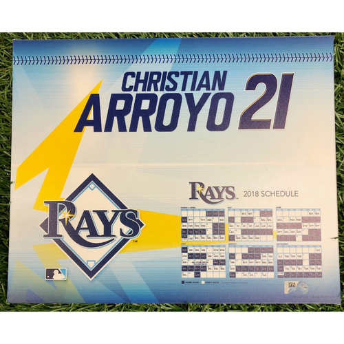 Photo of Rays Baseball Foundation: Team Issued Locker Tag: Christian Arroyo - 2018 Season