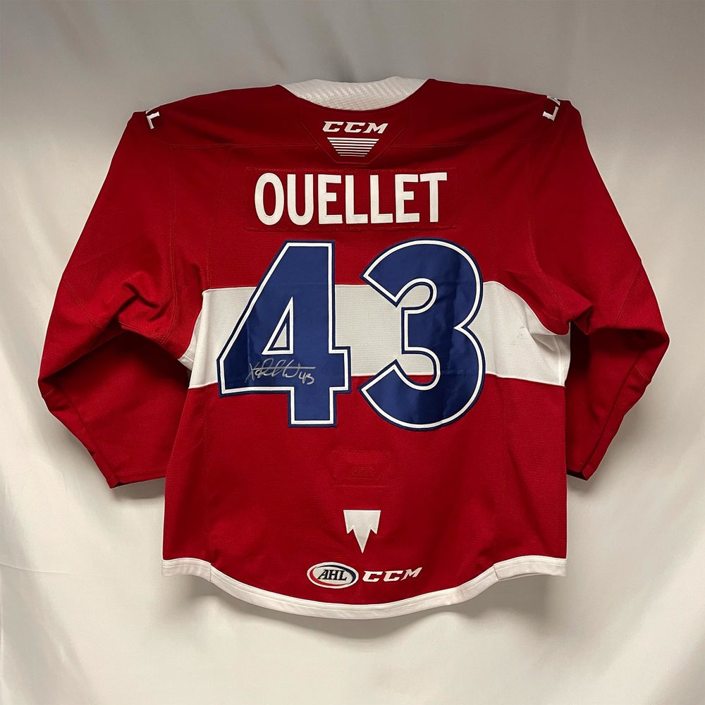 2020-21 Laval Rocket Captain Jersey Worn and Signed by #43 Xavier Ouellet