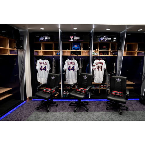 Photo of 2021 All-Star Game Clubhouse Chair Panel from Eduardo Escobar's Locker Chair