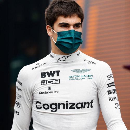 Photo of Lance Stroll 2021 Signed Race Used Nomex - Italian GP